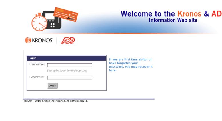 Access adpcom kronos com  Kronos ADP Login Page