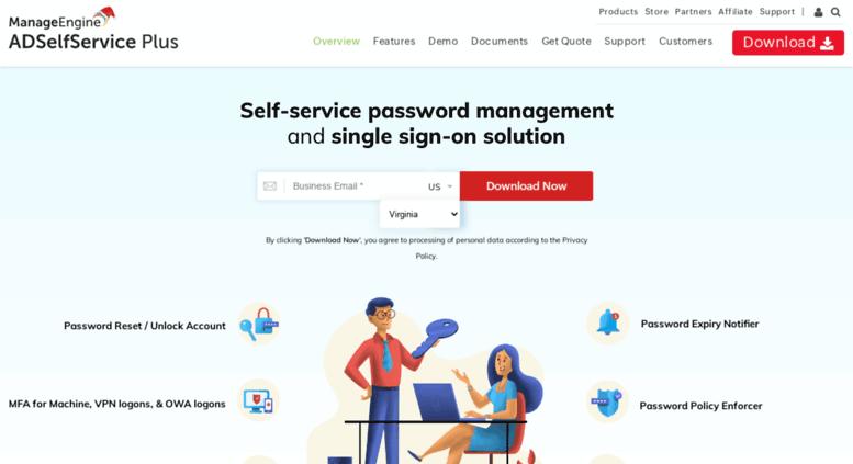 Access adselfserviceplus com  Web-based Password Self