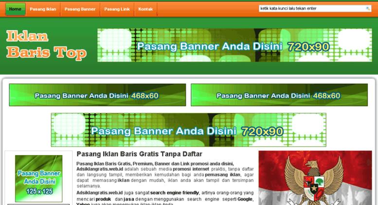 Access Adsiklangratis Web Id Pasang Iklan Baris Gratis Tanpa Daftar