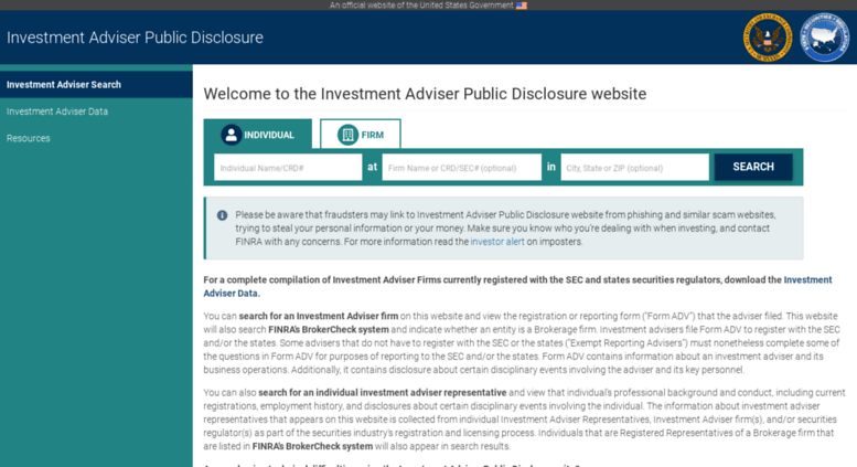 Investment adviser search iard adviser is all coin an investment scams