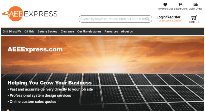 Access aeestore com  AEE Express- The online store of AEE Solar