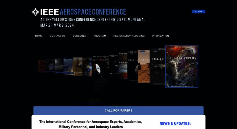 Access aeroconf org  AeroConf 2020 IEEE Aerospace Conference |