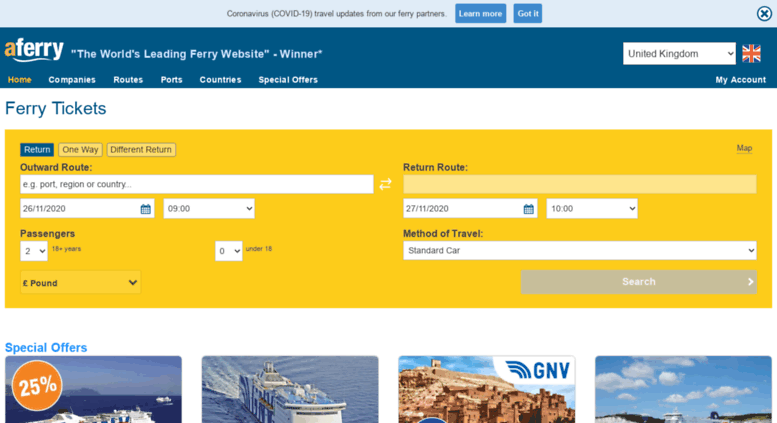 Access aferry co uk  AFerry | Compare Ferries Online  Ferry Tickets