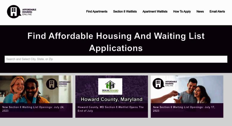 Access affordablehousingonline com  Low Income Apartments
