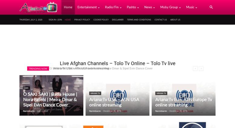 Access afghanlive-tv com  Afghan Live Channel - Afghani
