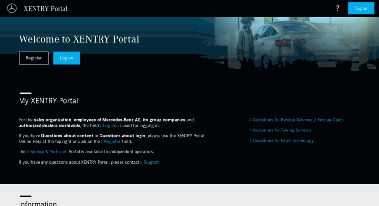 Access aftersales mercedes-benz com  XENTRY Portal