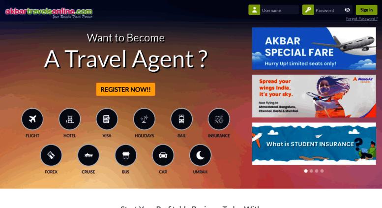 Access agents akbartravelsonline com   :: Akbar Travels Online ::