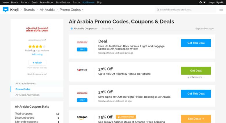 Air Arabia Discount Coupons