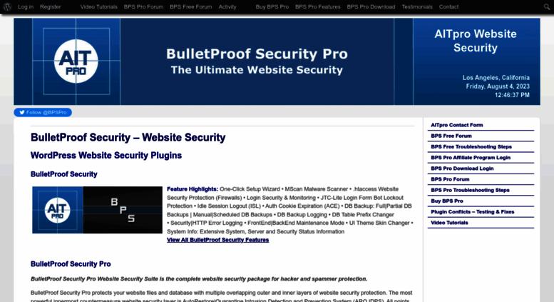 Access ait-pro com  Website Security | WordPress Website Security