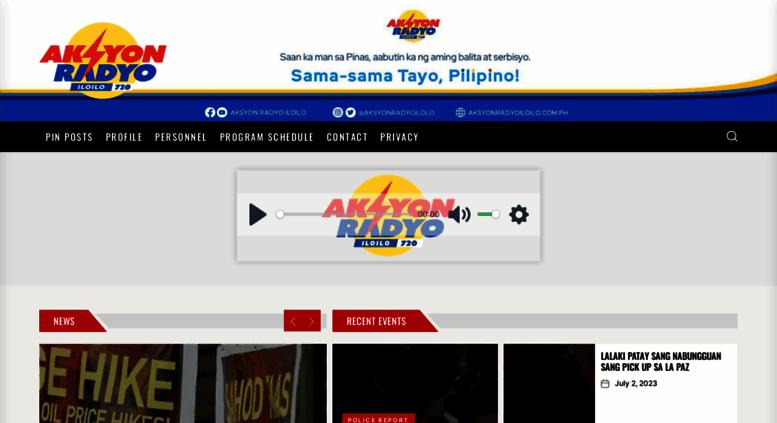 Access Aksyonradyoiloilocomph Aksyon Radyo Iloilo 720khz Aksyon