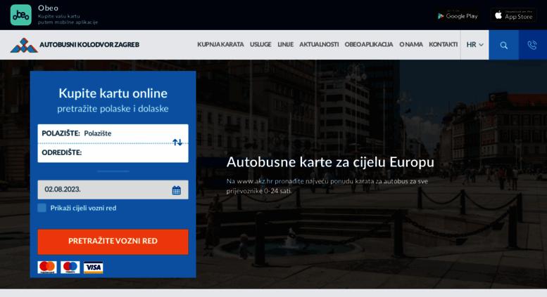 Access Akz Hr Autobusni Kolodvor Zagreb Najjeftinije Online