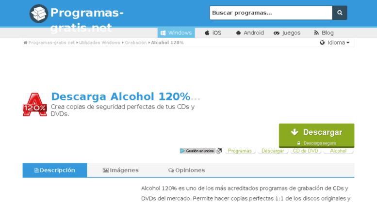descargar alcohol 120 gratis