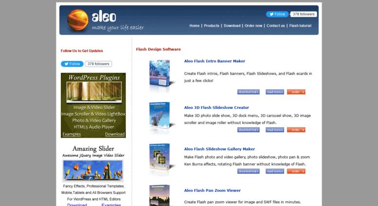 Access aleosoft com  Flash Banner Maker, Flash Slideshow