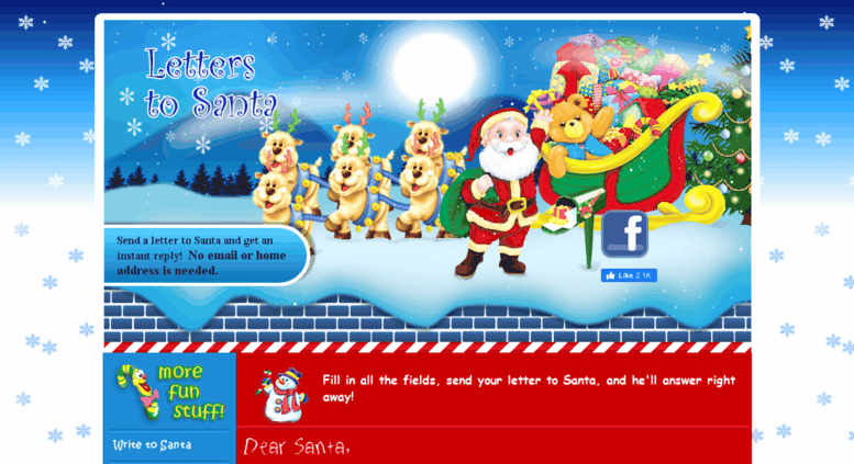 aletter4santa.com screenshot