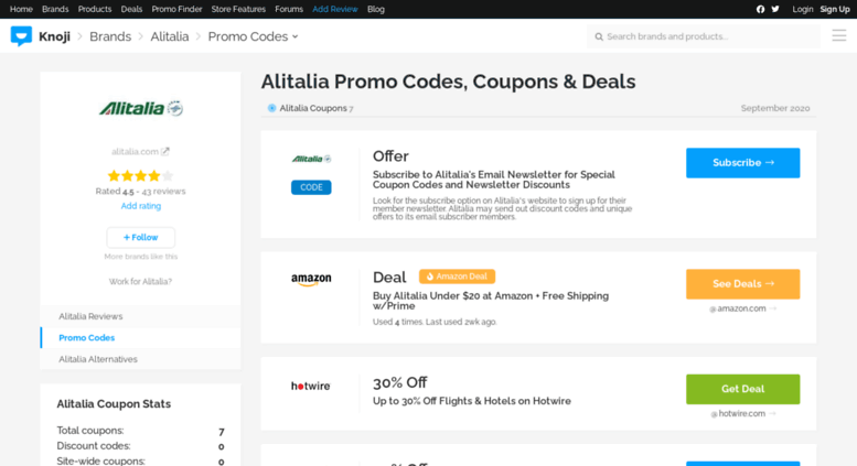 Active Alitalia Discount Codes & Offers 12222