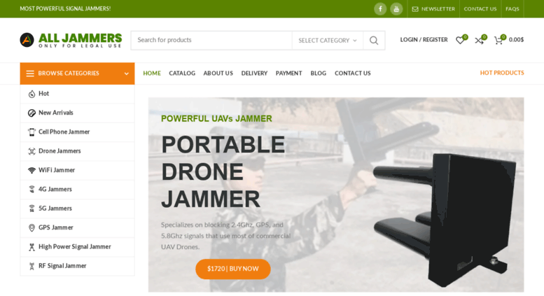 Access alljammers com  Cell phone jammers, mobile phone
