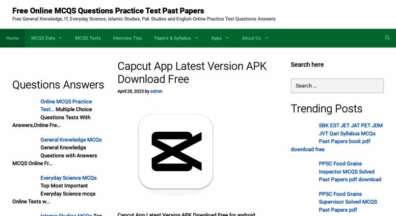 Access allmcqs com  PPSC SPSC NTS FPSC CSS PTS MCQs Past