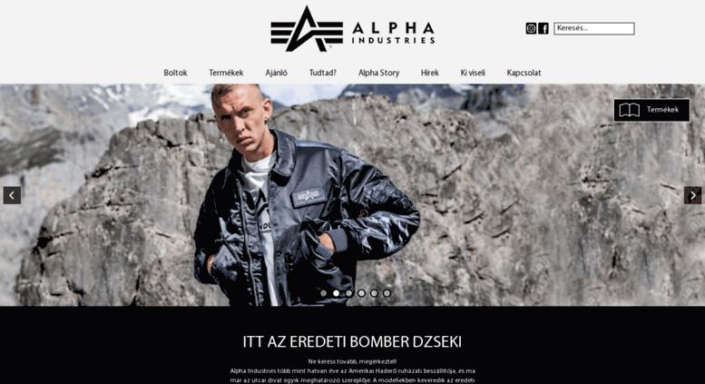 d7f82e4602 Access alphaindustries.hu. Alpha Industries - Army Shop Budapest ...