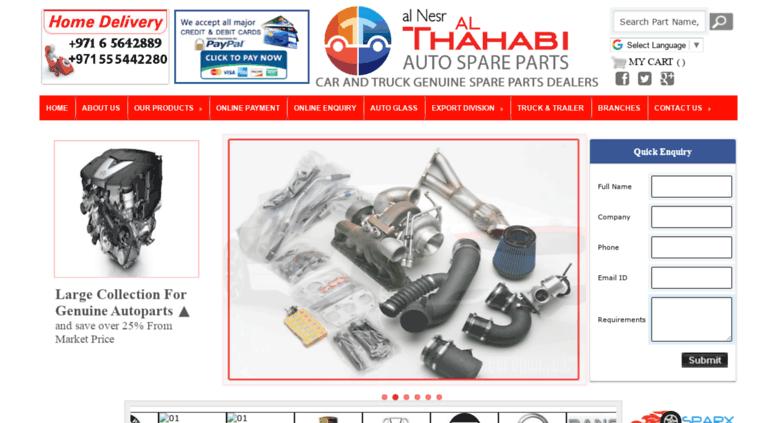 Access althahabiautospares com  Al Nesr Al Thahabi Auto