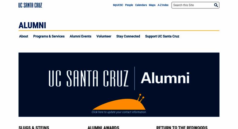 Access Alumniucscedu Uc Santa Cruz Alumni