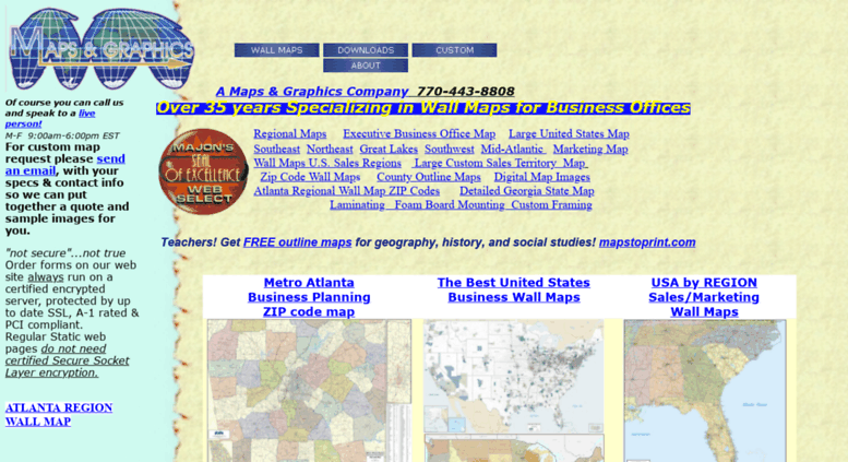 Access amaps.com. A Maps and Graphics Company Business Wall Maps