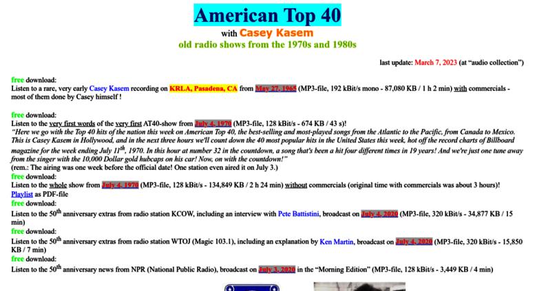 Access american-top-40 bplaced net  American Top 40 - Casey Kasem
