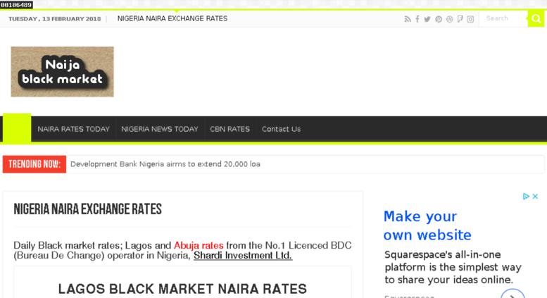 Nigeria Black Market Daily Fx Rates In Lagos Abuja