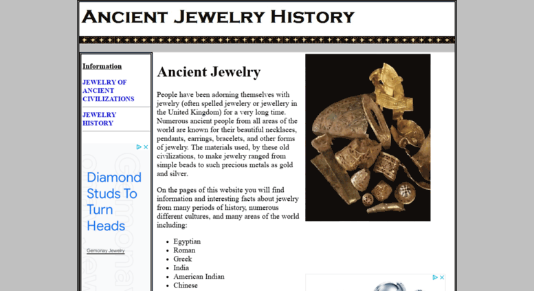 Access ancient-jewelry-history com  ANCIENT JEWELRY HISTORY