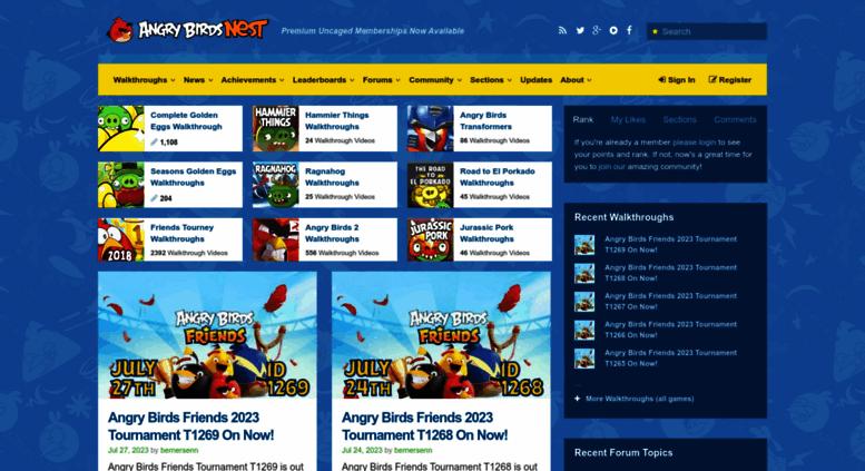 Access angrybirdsnest com  Angry Birds Walkthrough Videos, Golden