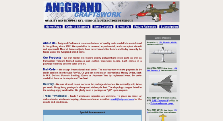 Access anigrand com  Anigrand Craftswork - resin model kit