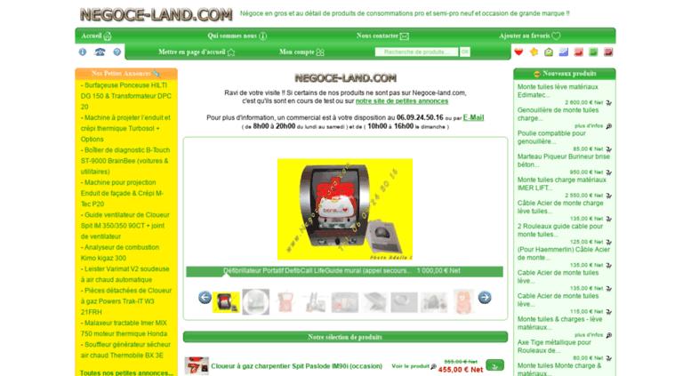 2a6c7be1aa510 Access annuaire-gratuit.negoce-land.com. NEGOCE-LAND.COM  Négoce de ...