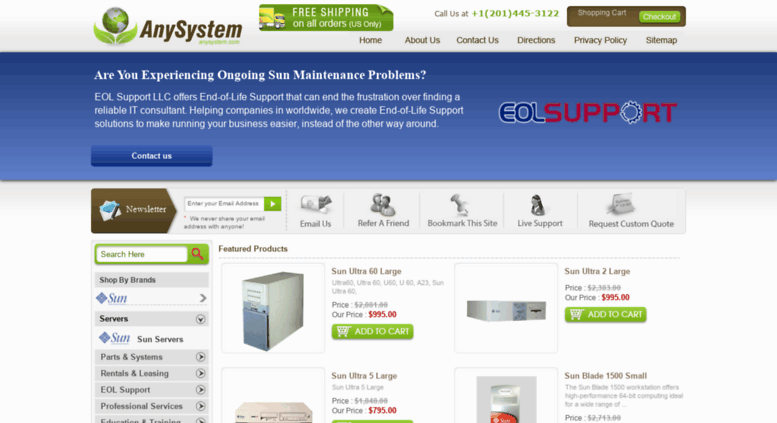Access anysystem com  Refurbished, Used Sun Microsystems