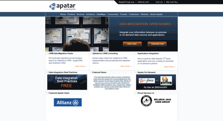Access apatar com  Apatar - Open Source Data Integration