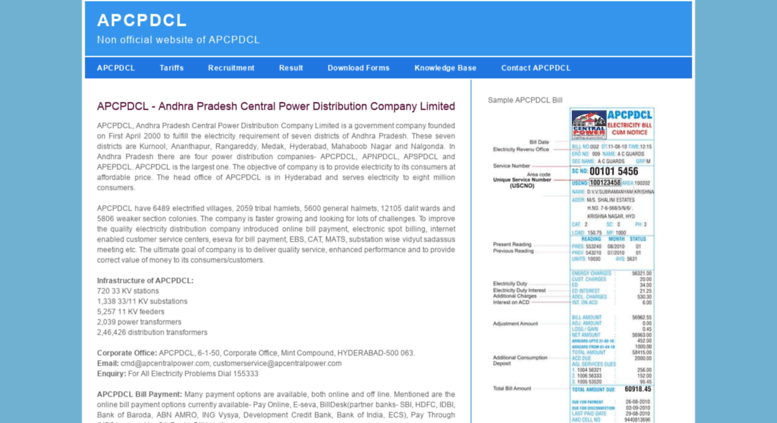 Access apcpdcl org in  APCPDCL - Online Electricity Bill Payment and