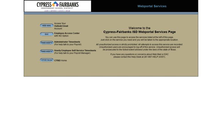 Access App Cfisd Net Cypress Fairbanks Independent School District