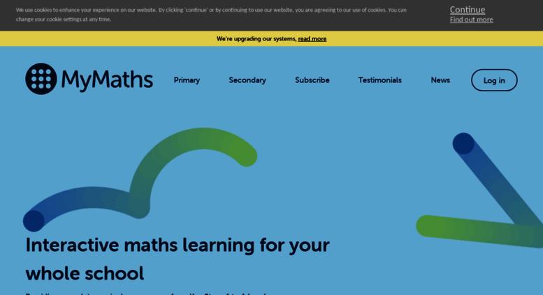 www.mymaths.co.uk online homework