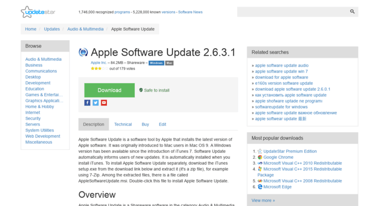 Access apple-software-update updatestar com  Apple Software