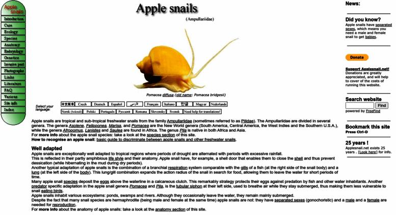 Access Applesnail The Apple Snail Ampullariidae Website