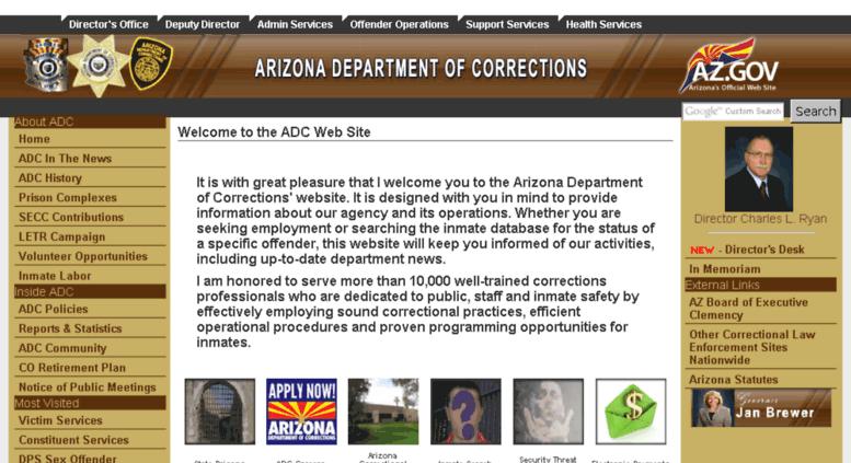 Access apps azcorrections gov  Arizona Department of Corrections