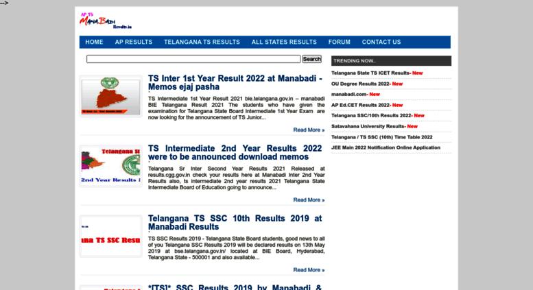 Access aptsmanabadiresults in  AP TS Manabadi Results