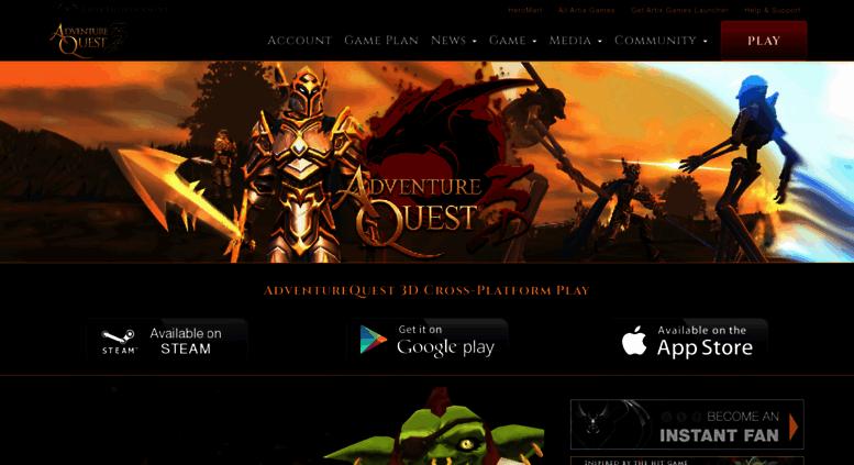 Access aq3d com  Adventure Quest 3D, Cross-Platform MMORPG