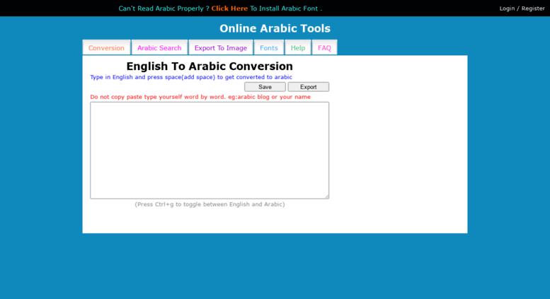 Access arabic changathi com  Online Arabic Converter