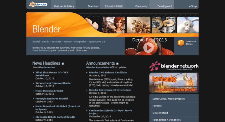 Access archive blender org  blender org - Home of the Blender