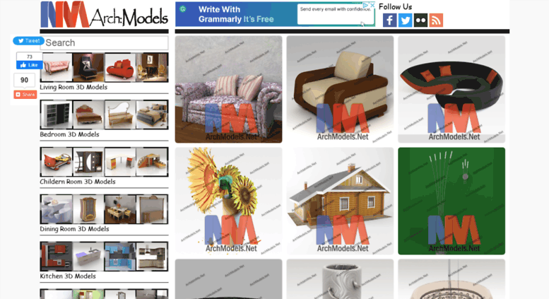 Access archmodels net  archmodels :: 5000+ 3D Models, FREE Download!