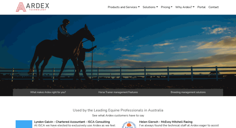 Access ardex com au  Ardex Technology - Software for Horse Racing
