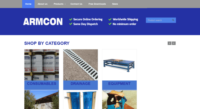 Access armcon-online com  Armcon - Providing Moulds for