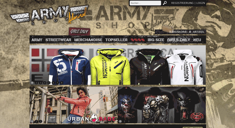 Access army-shop-admiral.at. Army Shop Admiral 4b444b7d650