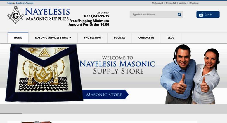 Access arreosmasonicosusa com  Nayelesis Masonic Supplies