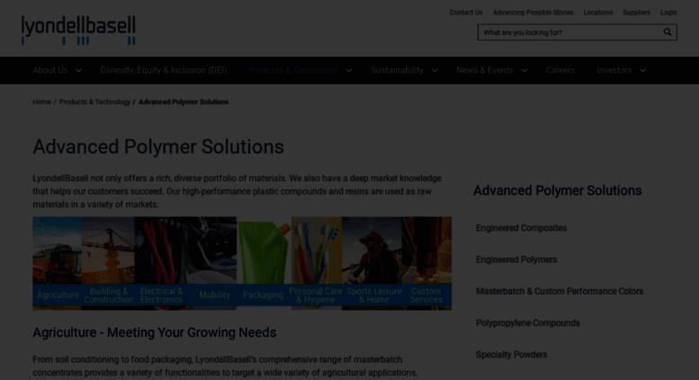 Access aschulman com  LyondellBasell Industries | LyondellBasell