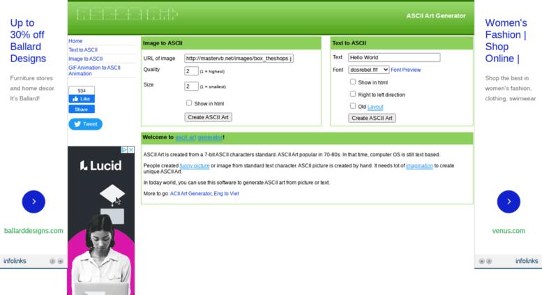Access ascii mastervb net  ASCII Art - Image to Ascii - Text